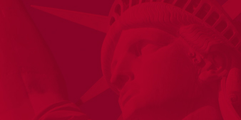 Statue of Liberty in Red