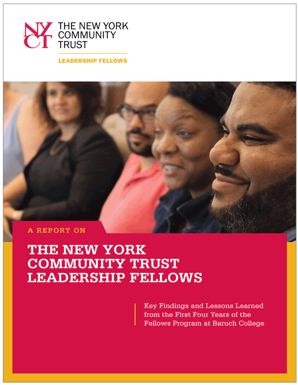 The New York Community Trust Leadership Fellows report cover