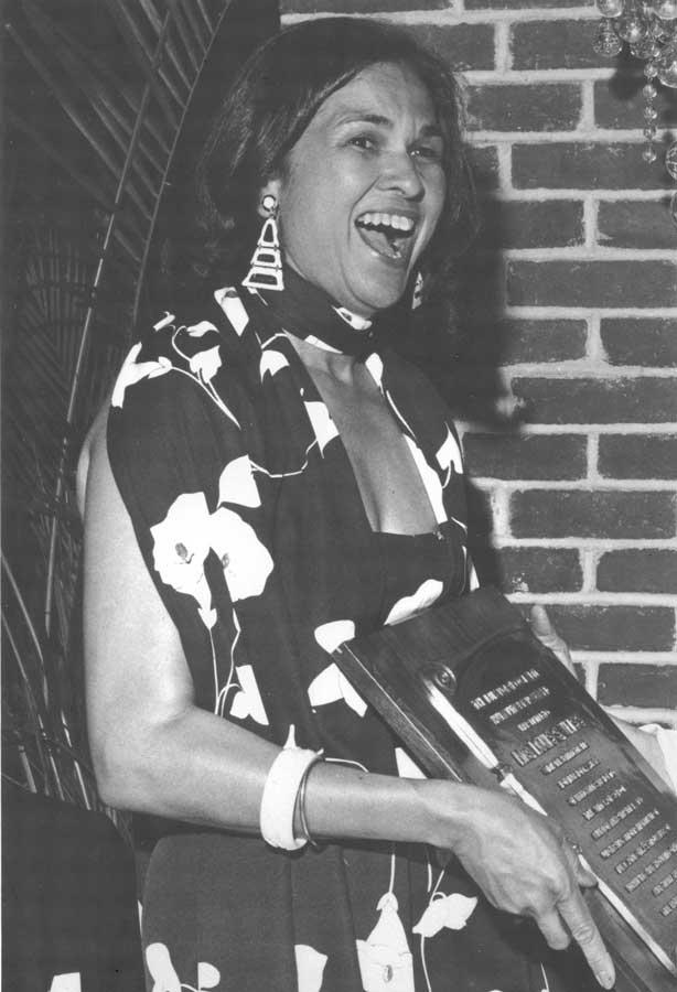 Barbara receiving an award