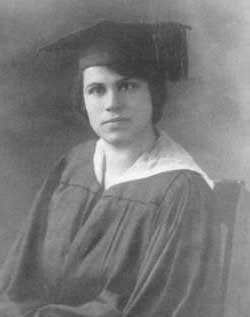 Sadie's graduation photograph.