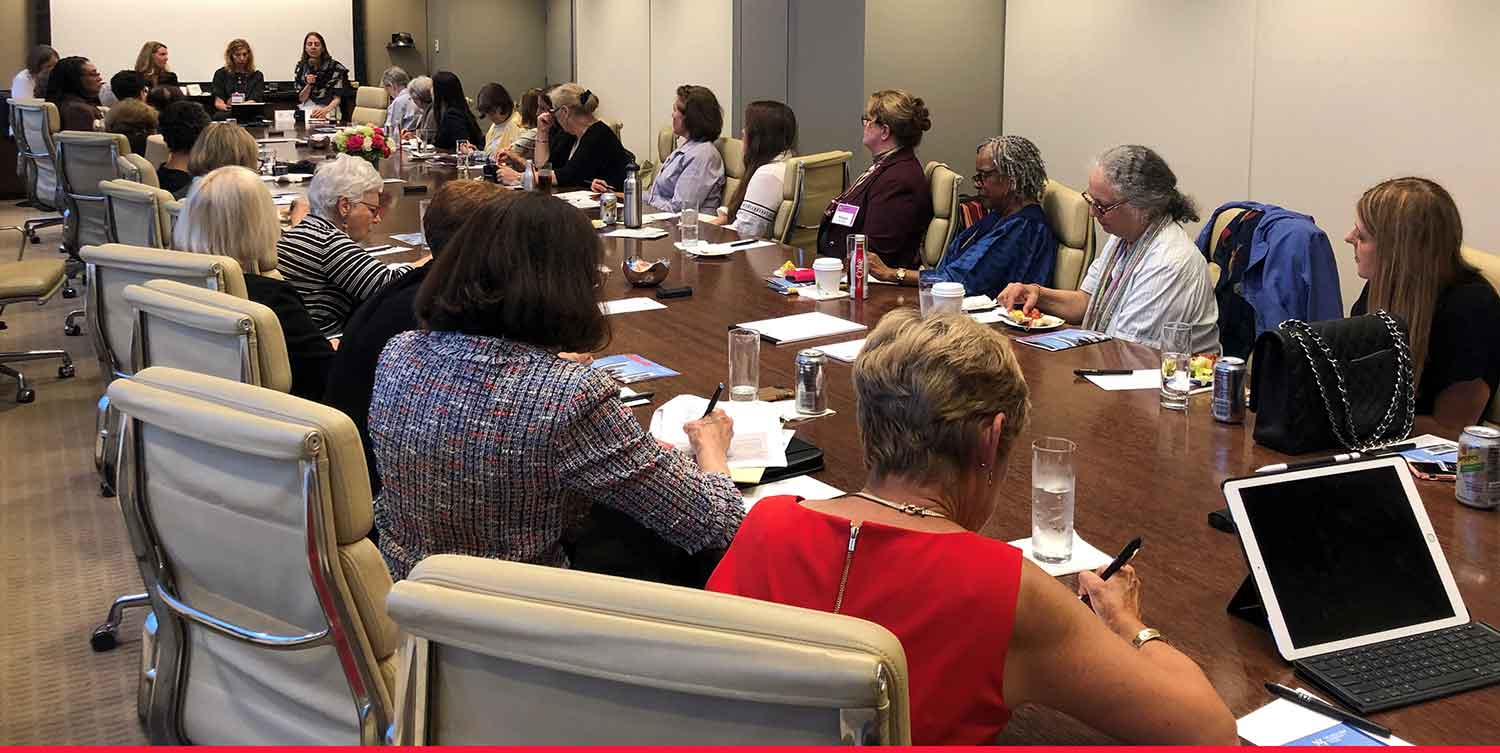 Women's Philanthropic Learning Series participants around a table