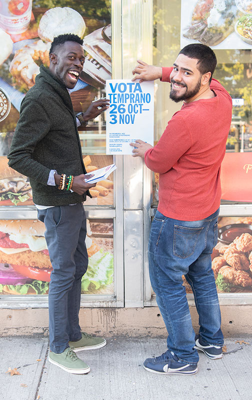 A grant from The Trust, made possible in part by the Annual Fund, helped Community Votes train employees of Phipps Neighborhood to register residents in the Bronx.