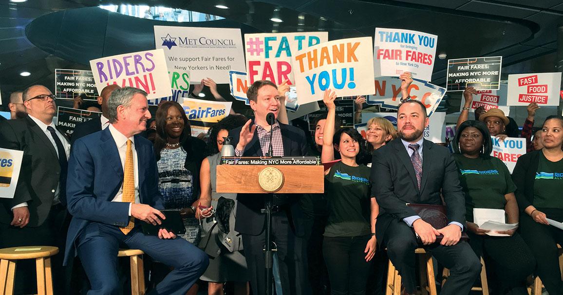Fair Fares press conference