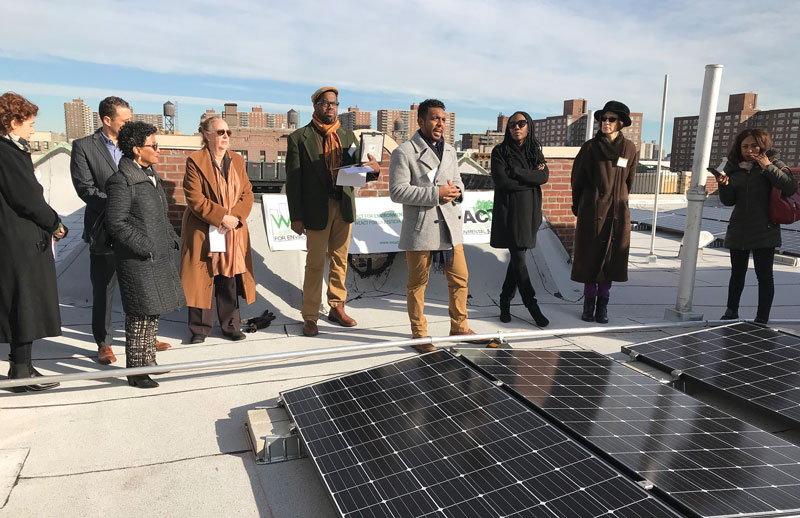 Solar One on the roof-top of an affordable co-op.