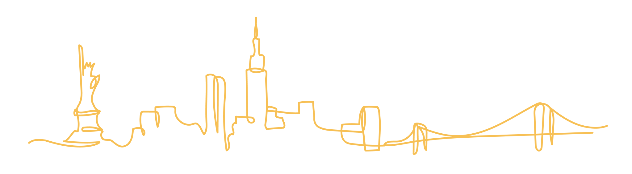 Illustration of the NYC Skyline