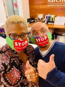 Safe Horizon employees with face masks