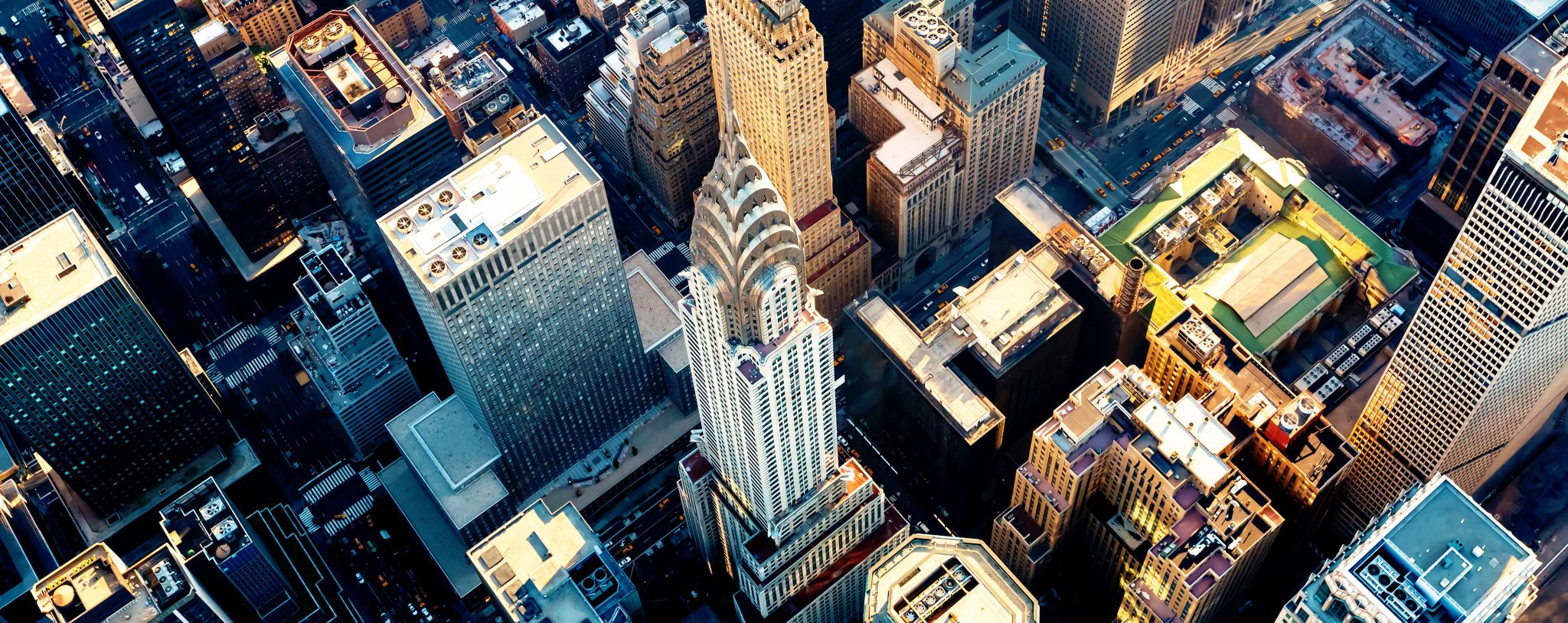 Aerial view of the Chrysler Building in Manhattan